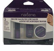 Nailene Deluxe Salon ACRYLIC KIT *Missing Glue 60 Tips 3 Complete plus 6 Fills