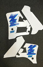YZ 125 1989 to 1992 BLUE Rad & Tank Decals Graphics Stickers
