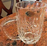 Vintage The European Collection 24% Lead Cut Crystal Mug Made in Yugoslavia