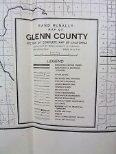 1950's 60's Glenn County California vintage road area map b