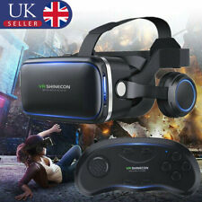 More details for virtual reality headset 360° vr 3d glasses goggles phone with remote control uk