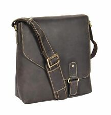 BEST seller da Uomo in Pelle Marrone Borsa A Tracolla Messenger IPAD BORSA VINTAGE CASUAL