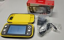 Nintendo Switch Lite Spielkonsole - Grau TOP wie NEU mit OVP
