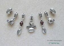 Football Charms for Large Hole Euro Dangle Bead fit European Charm Bracelet