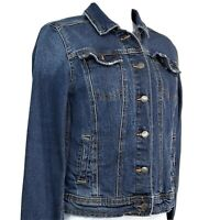 Universal Thread Denim Blue Jean Jacket Womens Size XS Stone Washed Button Front