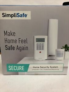 SimpliSafe Secure Home Security System 6 Piece Kit 24/7 Professional Monitoring