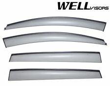 For 06-13 Subaru Tribeca WellVisors Side Window Visors W/ Black Trim