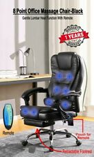 Office Computer Executive Chair Heated 8 Point Massage Recliner Black