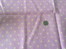 Pink Background with Yellow Polka Dots 100% Cotton Fabric