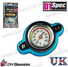 D1 Spec RACING il tappo del radiatore 1,3 Kg / cm con temperature gauge BLU BIG HEAD JDM