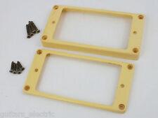 Reliquie im Alter von creme Humbucker gebogen Base Rahmen + Schrauben für Gibson