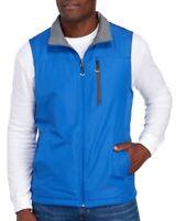 IZOD Mens Blue Gray Water Resistant Reversible Vest Jacket NWT $80 Size S
