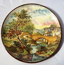 Bel piatto in ceramica Albisola decorato e firmato Nicola Ciavardoni