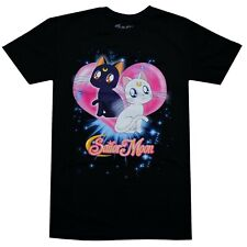 Sailor Moon S Luna & Artemis Cat Men's Black T-Shirt Official Licensed Legit