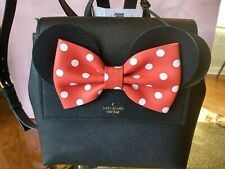 Kate Spade PXRU8273 Disney Minnie Mouse Small Neema Backpack Bag Purse BLACK NEW