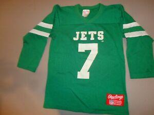 Vtg 80's Rawlings New York Jets Screen #7 Ken O'Brien NFL Green Jersey Youth M
