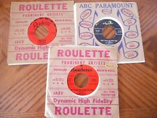 "(3) 45'S SPARKLETONES ""PENNY LOAFERS & BOBBY SOCKS"" BUDDY KNOX ""PARTY DOLL"""