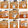 Silver Expandable Wire Bangle Charm Bracelet Pendants Women Jewelry Family Gifts