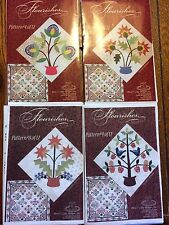 Flourishes Quilting Pattern Piece O'Cake Designs No. 4 5 8 & 9 Flowers