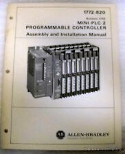 Used Allen Bradley Manual for Mini-Plc-2 Programmable Controller 1772-820
