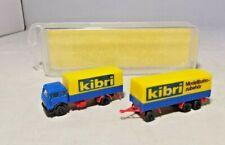 """KIBRI - PLASTIC - 1:160 SCALE - MERCEDES BENZ TRUCK & TRAILER """"KIBRI LIVERY"""""""