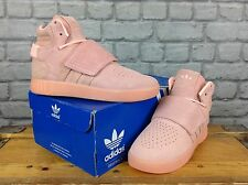 ADIDAS UK 3 EU 35 1/2 DUSTY PINK LEATHER TUBULAR TRAINERS LADIES CHILDRENS GIRLS