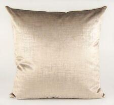 """New GP & J Baker  Fabric Cushion Cover 18"""" Painterly Beige Velvet Fabric"""