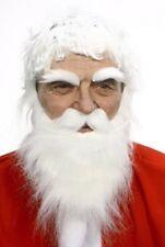 High quality Santa Clous white fake beard, mustache and eyebrows, self adhesive