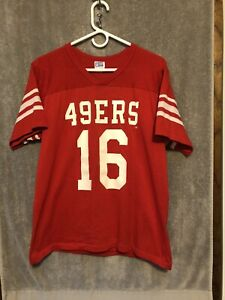 Vintage 1980s Joe Montana San Francisco 49ers Rawlings NFL Jersey Men's Sz L