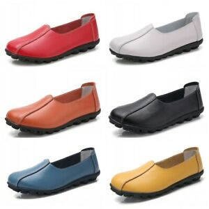 Summer Womens Slip On Casaul Loafers Shoes Solid Shallow Moccasins Flats Nurse B