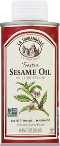 La Tourangelle Toasted Sesame Oil 8.45 oz Vegan GMO/Sodium/Gluten Free NEW