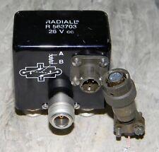 COAXIAL RELAY Radiall R 563703 doppio interruttore