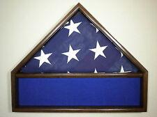 5 X 9 BLACK WALNUT FLAG & MEMORABILIA MILITARY DISPLAY CASE