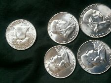 1956  P Franklin Half Dollar half BU Uncirculated, 1 Coin more on the way ...