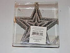 12 Silver Glitter Shatter Resistant Stars Christmas Ornament Decoration