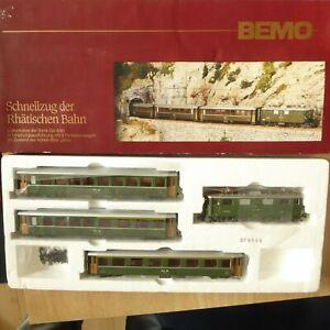 Bemo 7015 100 H0m Express Train The Rhaetian Railways With E-Lok Ge4/4 Very IN