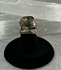 Vntg Towle Sterling Silver Spoon Wrap Ring Turquoise Old Master sz 5.5 7g