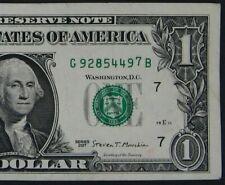 "2017 $1 (ONE DOLLAR) – NOTE, BILL - SERIAL NUMBER HIGH ""7"" - ERROR"
