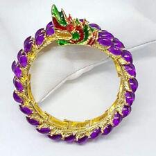 Naga Bracelet Dragon Bangle Vintage Jewelry Gem Talisman Thai Buddhist Amulet