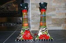 Original ROMNEY DODD Designs Pair of Candlesticks Signed 2015 Alaska