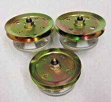 3 BLADE SPINDLES W/ PULLEY JOHN DEERE AM121229 AM121342 F725 F735 GT200 LX100 ++