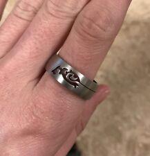 Silver Tribal Design Ring Laser Cut 12.5 Jewelry Men Women Unisex Band New