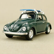 1967 Classic Volkswagen Beetle Diecast 1:32 Scale Pullback Chrome Pastel Yellow