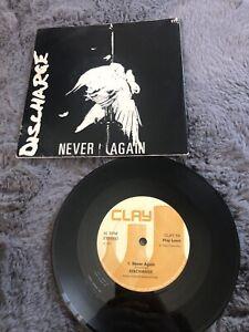 Discharge Never Again Rare Original 1981 Punk Ex Vinyl!!