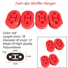 4pcs/set Dia12mm Car Rubber Exhaust Hanger Pipe Mounting Bracket Hole Hanger Red