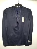 Kenneth Cole Reaction SlimFIT 2 Button Sport Coat BLUE 44 Long NWT 164