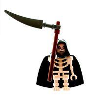 LEGO Grim Reaper Skeleton Minifigure with Scythe NEW