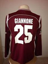 Maglia calcio Salernitana 2008 09 match worn Tim cup Vs Napoli n 25 Giannone