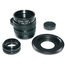 35mm f/1.7 CCTV Lens for m43 ep2 gf1 gh1+C mount to Micro 4/3 m4/3+ 2XMacro Ring