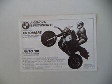 advertising Pubblicità 1984 GASTON RAHIER e BMW R 80 GS G/S PARIS DAKAR